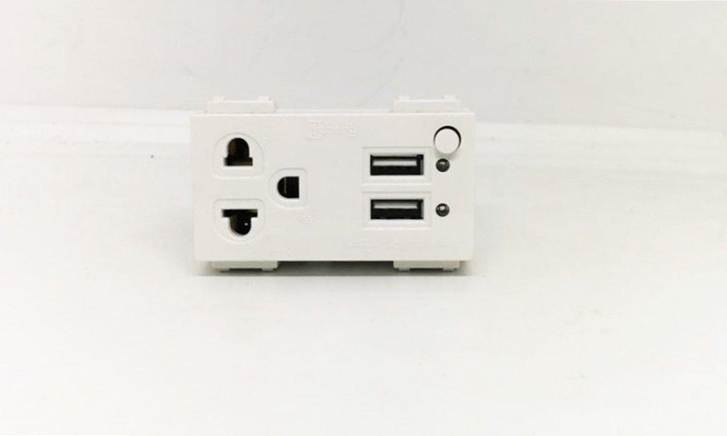 ปลั๊กกาวเดี่ยว+USB  ZEBERG