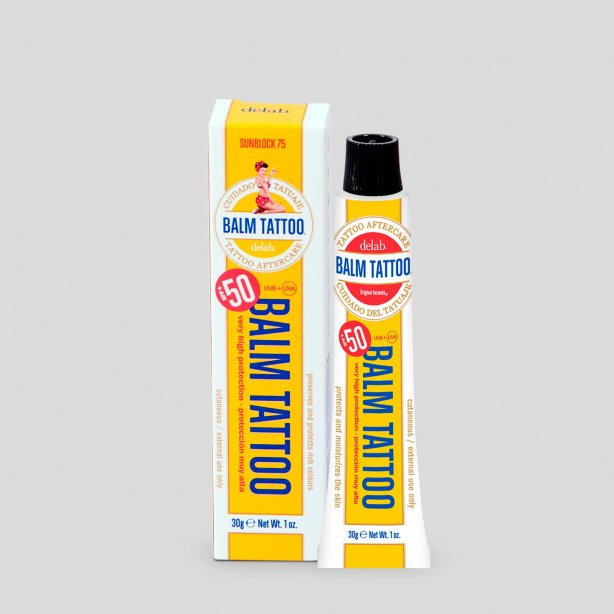 Delab balm tattoo sunscreen SPF 75