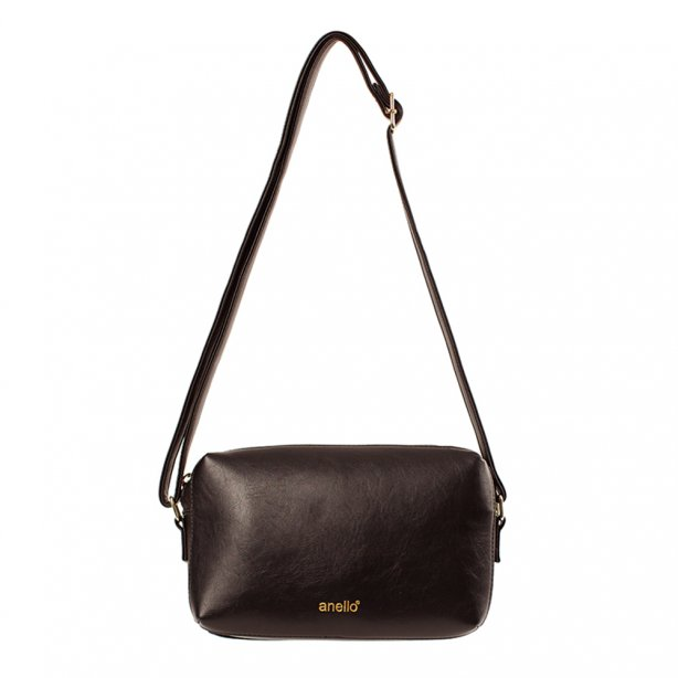 Anello Shoulde Bag Synthetic Leather OS-N044 Dark Brown