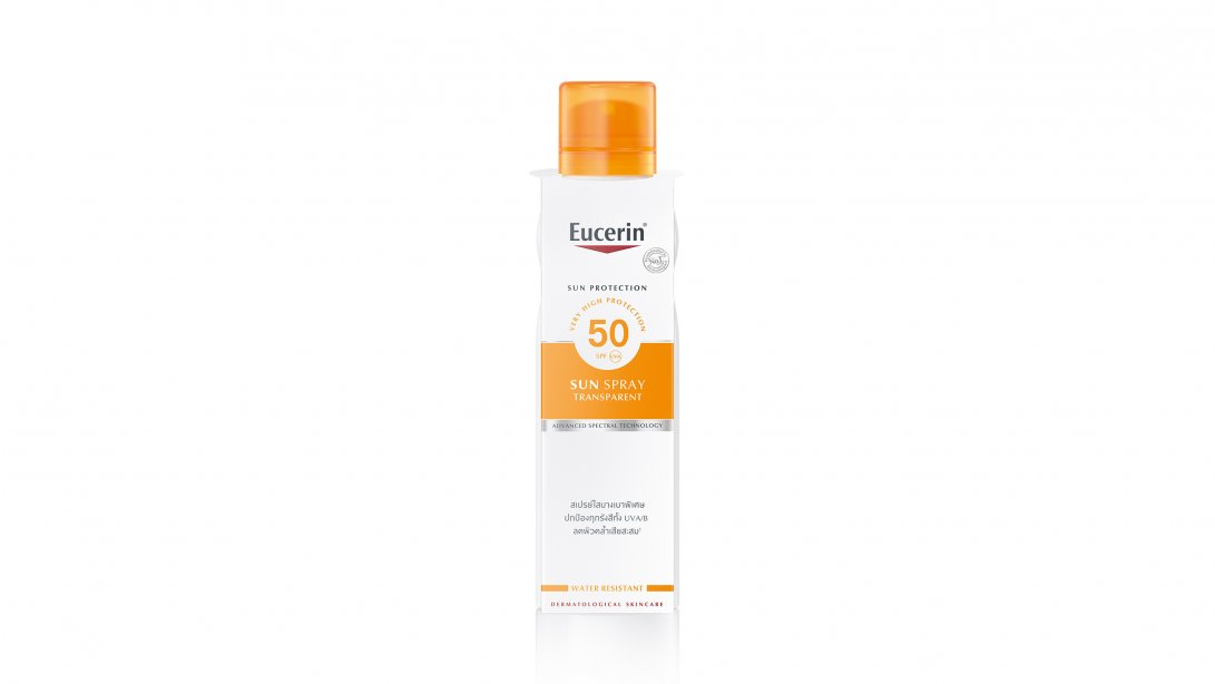 Transparent sun spray dry touch SPF50