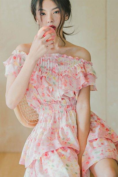 Vivian Ruffles Dress