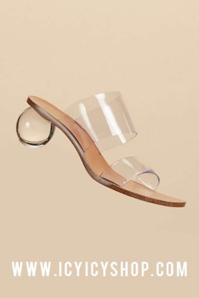 Crystal Clear Stap Shoes