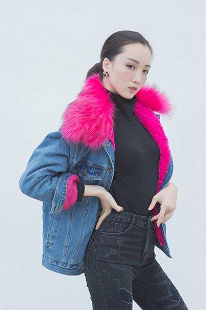 Charlotte Denim Jacket-Pink