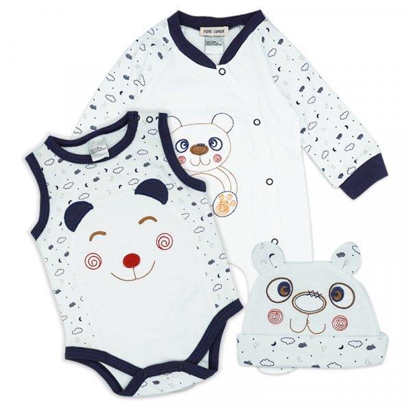 Pack of 3 Care Baby Boys Bodysuit