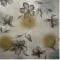 ผ้าคอตต้อนญี่ปุ่น ลายดอก สีน้ำตาล 1/4 เมตร (50 x 55 ซม.)