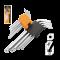 กุญแจหกเหลี่ยม TOLSEN 9ตัวชุด #20053