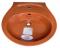C013 อ่างล้างหน้า แบบแขวนผนัง รุ่น KENSINGTON [ สีชมพูกุหลาบมอญ สีฟ้าสกายบลู สีส้มอิฐ ] - COTTO