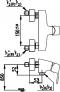 CT2019A ก๊อกผสมยืนอาบน้ำ แบบก้านโยก รุ่น ROMERO (Exposed Shower Mixer)  - COTTO