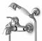ZX6155 ก๊อกอ่างอาบน้ำ/ยืนอาบ พร้อมฝักบัวสายอ่อน (Zucchetti Delfiflu Mixers Exposed Bath-shower Mixer) - Zucchetti