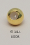 Stopper 6mm. [เงินชุบทอง] / Z008