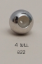 Stopper 4mm. [เงินชุบทองคำขาว] / Z22