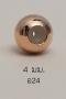 Stopper 4mm. [เงินชุบพิ้งค์โกลด์] / Z24
