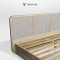 Duffin bed เตียงหวายโครงไม้สักแท้ สไตล์มินิมอล : BE063