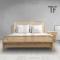 เตียงไม้สักผสมหวาย BE073