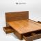 เตียงไม้สัก BE078