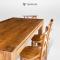 ชุดโต๊ะอาหารไม้สักสไตล์โมเดิร์น DS070
