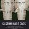 Finished Crocodile Leathers/ White Crusted Crocodile Leathers