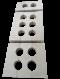 หวีคอนกรีตรองท่อ HDPE การไฟฟ้า แคล้มล็อคท่อ HDPE (HDPE Spacer Block, Concrete Spacer Block for HDPE, Duct Bank Concrete Spacers)
