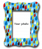 กรอบรูป rain drops colorful pattern frame
