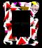 กรอบรูปพิมพ์ สั่งทำ Red&black triangle frame