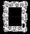 กรอบรูปพิมพ์ สั่งทำ White&black cat pattern frame
