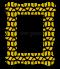 พิมพ์กรอบรูป Yellow&black pattern frame