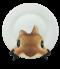 จานพิมพ์ Cute Brown Rabbit Dish&Plate
