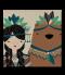 กระเบื้องพิมพ์รูป Girl&bear Tiles