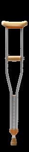 ล็อคไม้เท้าสีแดงมือจับน้ำตาล DY5920L-M1