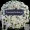 พวงหรีดดอกไม้สดLF58