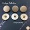 Gold Matte Vintage Buttons 23 mm