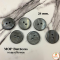 Shell buttons, black, 21 mm.