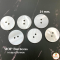 Shell buttons, white, 21 mm.