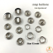silver snap button
