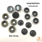 Smoked Black Snap Buttons