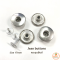 Jeans Button Donut Silver