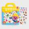 สติกเกอร์ ตัวอักษรภาษาอังกฤษ 56 ชิ้น / Bag Sticker Alphabet ตัวการ์ตูน Pinkfong ลิขสิทธิ์แท้จากเกาหลี