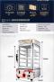 ตู้อุ่นอาหารระบบไอน้ำ ตู้อุ่นซาลาเปา VZB-25 เครื่องนึ่งพลังงาน  (ห้าชั้น)