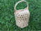 Eye-shape basket with wicked cover