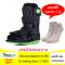 """เฝือกบูทลมสูญญากาศ มีแกนแข็งพยุงเท้ารอบด้าน Air Walking Boot 11""""(Black/Green)"""