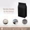 ถุง Flat bottom แบบตั้ง (วาล์วและซิป) สีดำ เงิน ขาว 500g.