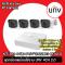 ชุดกล้องพร้อมใช้งาน UNV 4CH 2.0 NVR IP Camera Kit Set