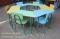 ชุดโต๊ะเก้าอี้นักเรียนทรงคางหมูแบบหมู่