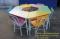 ชุดโต๊ะเก้าอี้นักเรียนทรงคางหมูพาสเทล