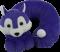紫色狠狗卡通颈枕
