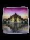 庙宇-粉红色靠垫