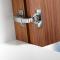 Blind corner hing inset application
