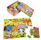 Custom 3D lenticular jigsaw puzzle of cute animals for kids toy