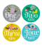 promotional custom self-adhesive numbers 3d lanticular stickers for kids