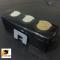 LEOMAX ที่ใส่เหรียญ-หนีบนามบัตร รุ่นสไลด์เก็บเหรียญ พร้อมที่หนีบบัตร 2in1 รุ่น CH-1146 (กล่องสีดำใส)